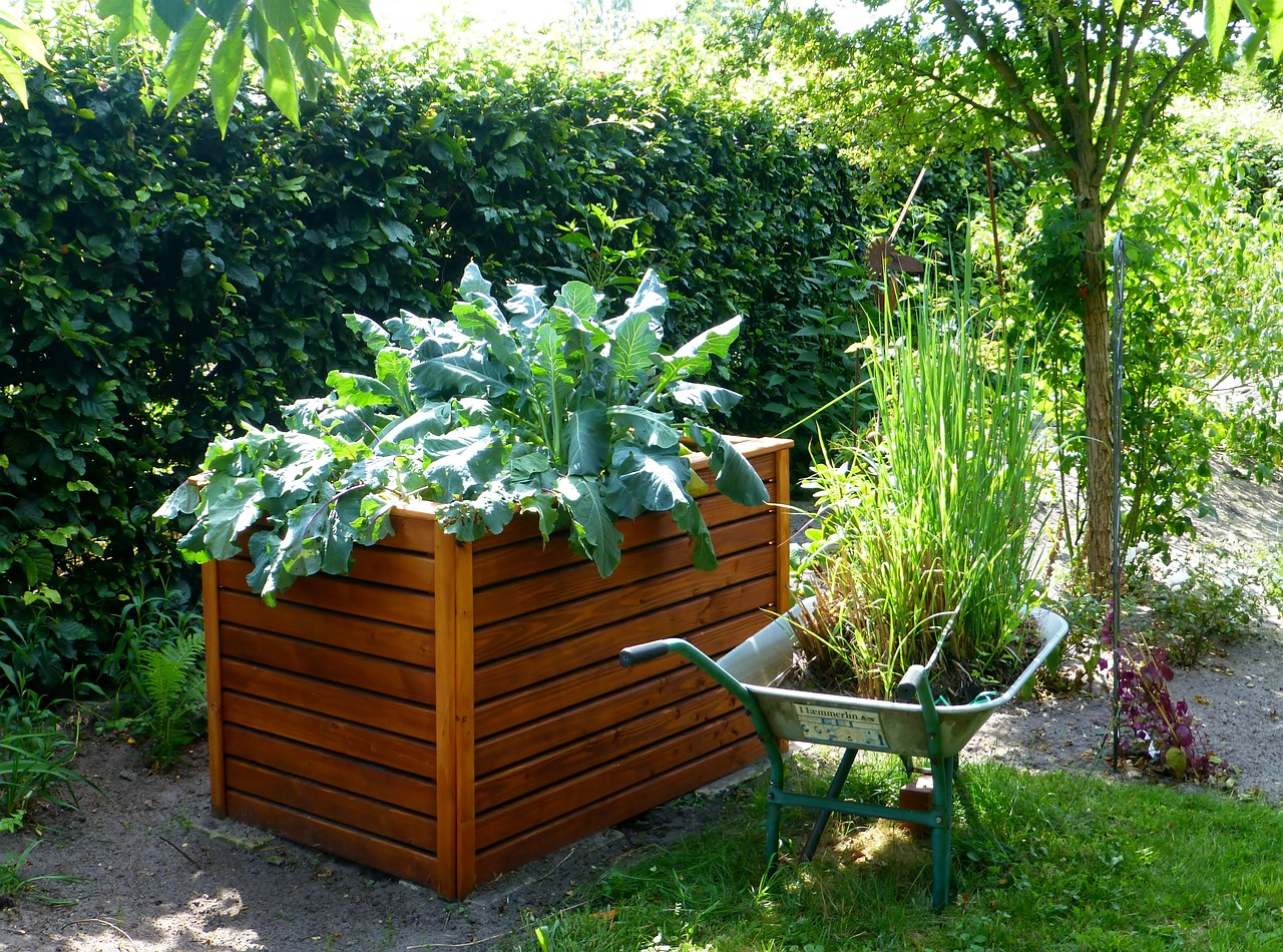 Hochbeete im Garten